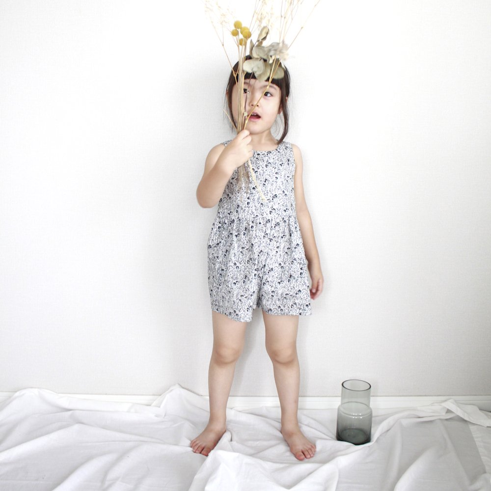 Gray flower playsuit