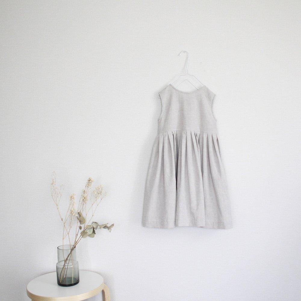 Cotton linen tuck dress