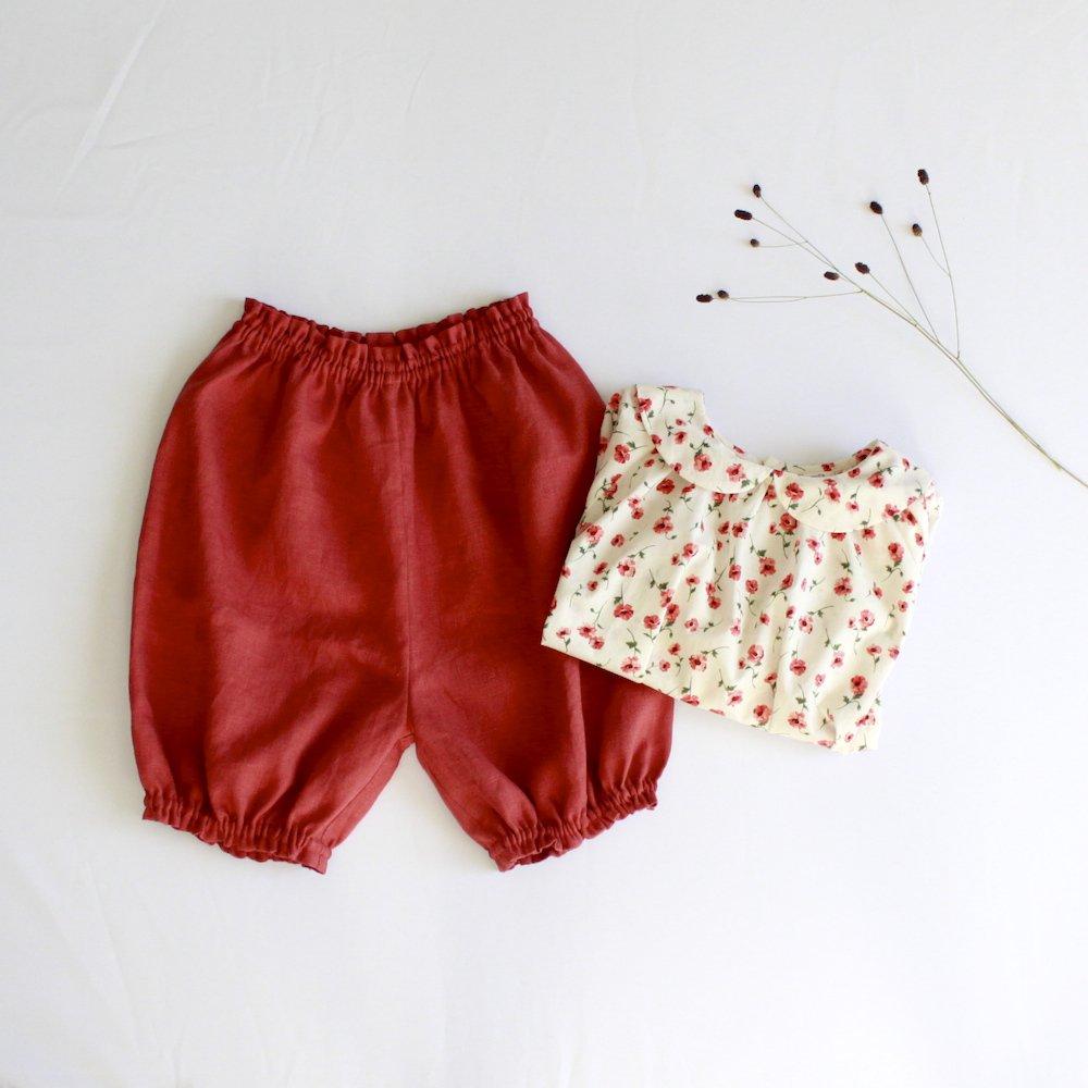 Linen long bloomers