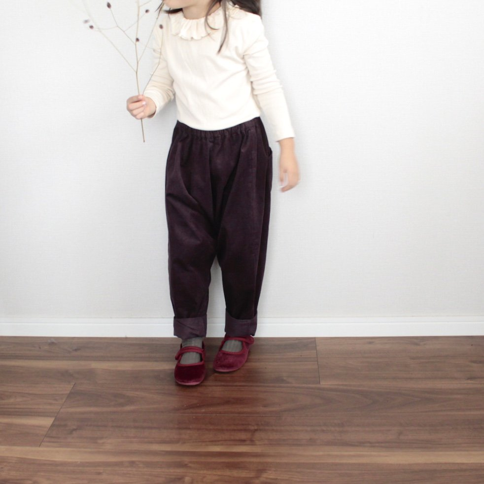 Corduroy saruel pants