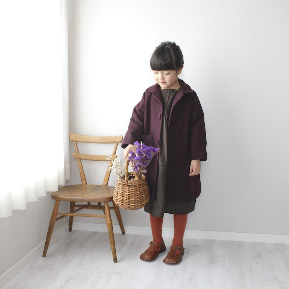 Round collar middle coat