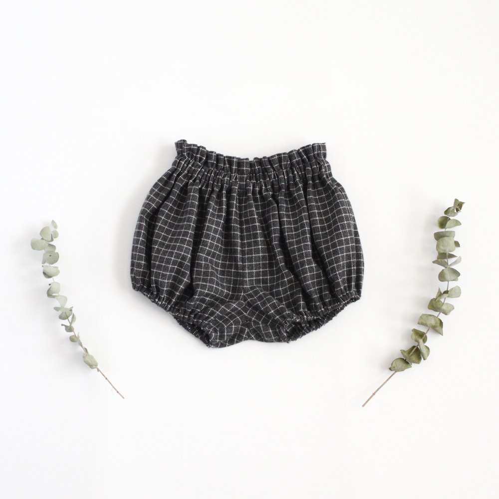 Cotton check bloomers