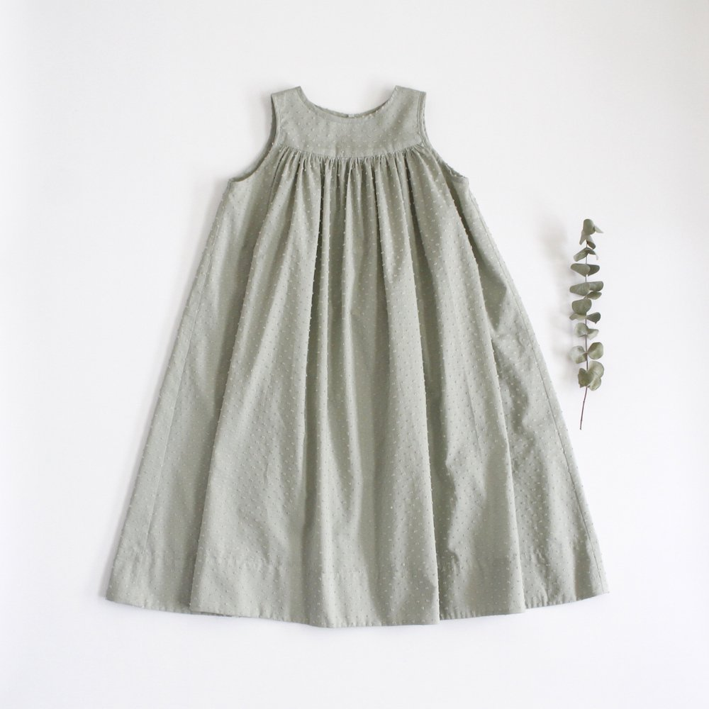 Sleeveless long dress -mint-