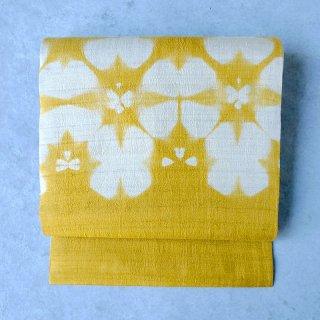 インド 板締め絞り [黄]   名古屋帯(仕立て上がり)