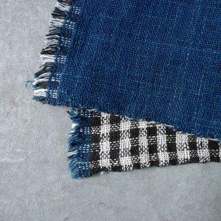 H.P.E.谷由起子 ラオスの布 黒タイ族 二重織布巾 2
