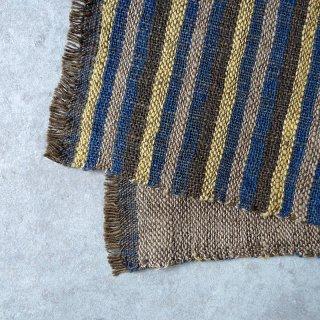 H.P.E.谷由起子 ラオスの布 黒タイ族 二重織布巾 3