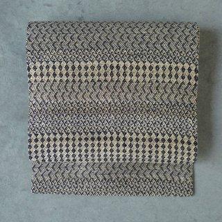 maki textile studio(インド手織り布)名古屋帯 菱