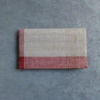 maki textile studio(インド手織り布)懐紙入れ 赤