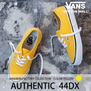 AUTHENTIC 44DX (Yellow)/VANS バンズ<img class='new_mark_img2' src='https://img.shop-pro.jp/img/new/icons14.gif' style='border:none;display:inline;margin:0px;padding:0px;width:auto;' />