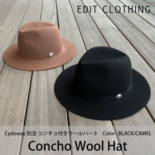Concho Wool Hat/EDIT CLOTHING