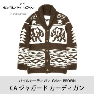 【50%OFF】CA ジャガードカーディガン BROWN/EVENFLOW<img class='new_mark_img2' src='https://img.shop-pro.jp/img/new/icons20.gif' style='border:none;display:inline;margin:0px;padding:0px;width:auto;' />
