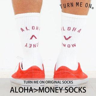 ALOHA>MONEY SOCKS/TURN ME ON