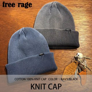 KNIT CAP ニットキャップ/FREE RAGE<img class='new_mark_img2' src='https://img.shop-pro.jp/img/new/icons8.gif' style='border:none;display:inline;margin:0px;padding:0px;width:auto;' />