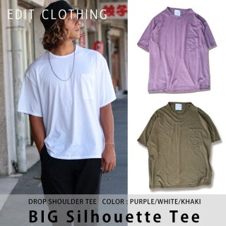 BIG Silhouette Tee(ビッグシルエットTシャツ)パープル ホワイト カーキ/edit clothing エディットクロージング<img class='new_mark_img2' src='https://img.shop-pro.jp/img/new/icons8.gif' style='border:none;display:inline;margin:0px;padding:0px;width:auto;' />