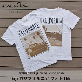 【30%OFF】EVENFLOW×Eiji カリフォルニア フォトTEE/evenflow イーブンフロー<img class='new_mark_img2' src='https://img.shop-pro.jp/img/new/icons20.gif' style='border:none;display:inline;margin:0px;padding:0px;width:auto;' />