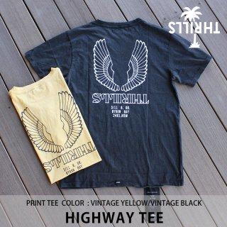 THRILLS HIGHWAY TEE ヴィンテージブラック ヴィンテージイエロー/THRILLS スリルズ