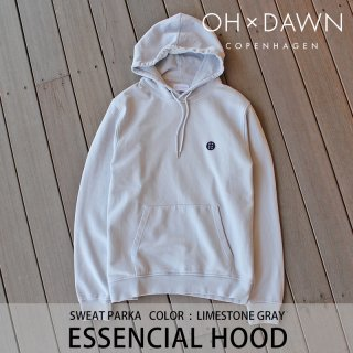 【30%OFF】ESSENCIAL HOOD ライムストーングレー/OH DAWN オードーン <img class='new_mark_img2' src='https://img.shop-pro.jp/img/new/icons20.gif' style='border:none;display:inline;margin:0px;padding:0px;width:auto;' />
