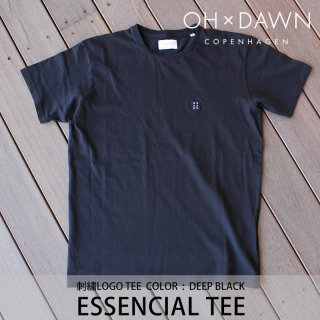 【40%OFF】ESSENCIAL TEE ブラック/OH DAWN オードーン<img class='new_mark_img2' src='https://img.shop-pro.jp/img/new/icons20.gif' style='border:none;display:inline;margin:0px;padding:0px;width:auto;' />