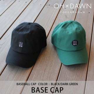 【30%OFF】BASE CAP ブラック ダークグリーン/OH DAWN オードーン<img class='new_mark_img2' src='https://img.shop-pro.jp/img/new/icons20.gif' style='border:none;display:inline;margin:0px;padding:0px;width:auto;' />