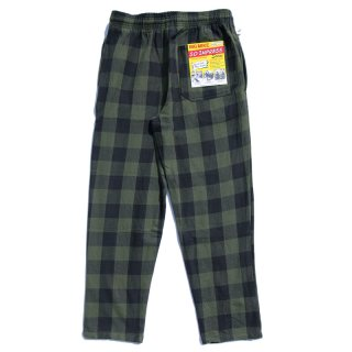 <img class='new_mark_img1' src='https://img.shop-pro.jp/img/new/icons13.gif' style='border:none;display:inline;margin:0px;padding:0px;width:auto;' />HEAVY FLANNEL EASY PANTS (OLIVE×BLACK)/BIG MIKE ビッグマイク