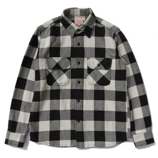 <img class='new_mark_img1' src='https://img.shop-pro.jp/img/new/icons59.gif' style='border:none;display:inline;margin:0px;padding:0px;width:auto;' />HEAVY FLANNEL SHIRTS (WHITE×BLACK)/BIG MIKE ビッグマイク