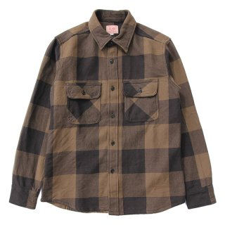 <img class='new_mark_img1' src='https://img.shop-pro.jp/img/new/icons13.gif' style='border:none;display:inline;margin:0px;padding:0px;width:auto;' />HEAVY FLANNEL SHIRTS (BROWN×BLACK)/BIG MIKE ビッグマイク