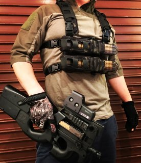 P90 CHEST RIG with GRID CUT HARNESS