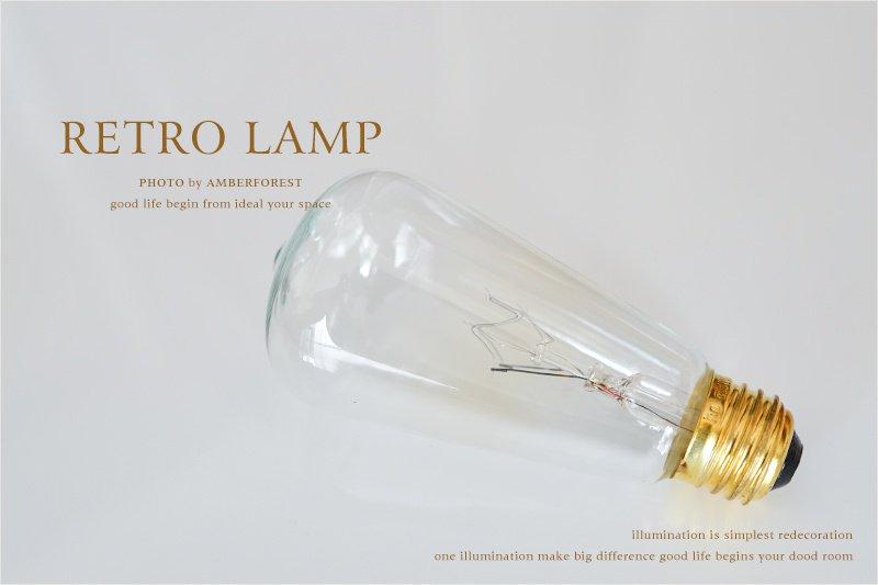 レトロ球 (S60) 白熱電球