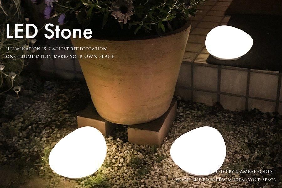 LED Solar Stone 屋外ライト 野外ライト