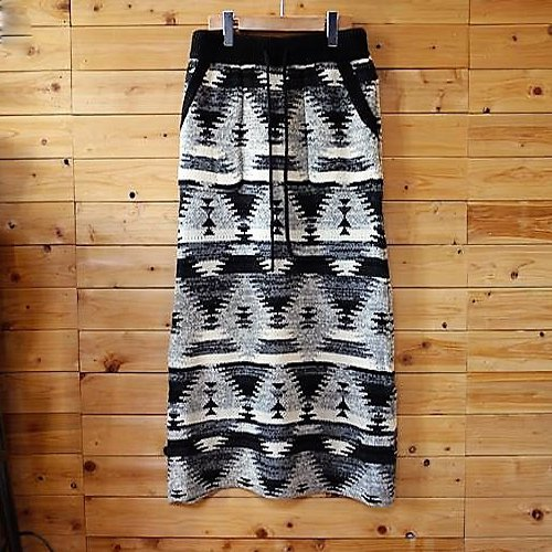 WOOL JACQUARD LONG SKIRT ANITIBALLISTIC