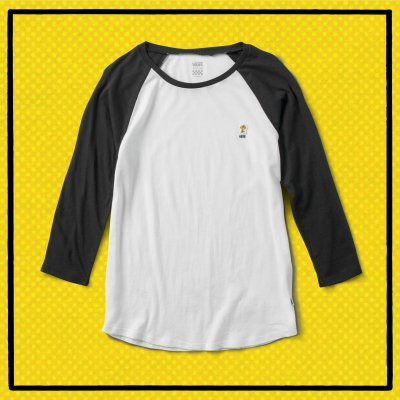 WOODSTOCK RAGLAN WHITE-BLACK