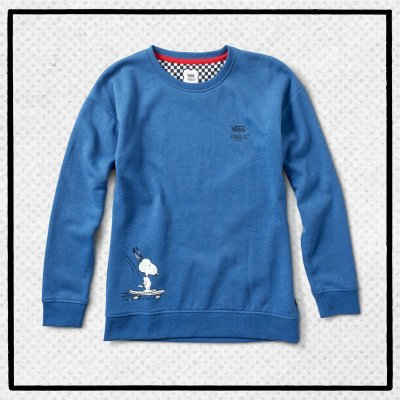 SNOOPY SKATES CREW TRUE NAVY HEATHER