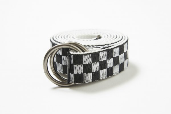 RING BUCKLE CHECHER BELT