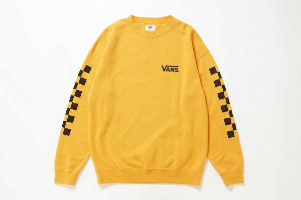 Checker Over Size Crew Sweat≪ORANGE ATTACK≫