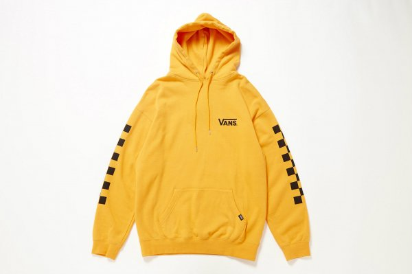 Checker Over Size Pull Over Hoodie≪ORANGE ATTACK≫