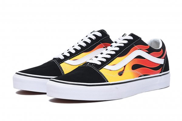 OLD SKOOL (FLAME) BLACK/BLACK/TRUE W