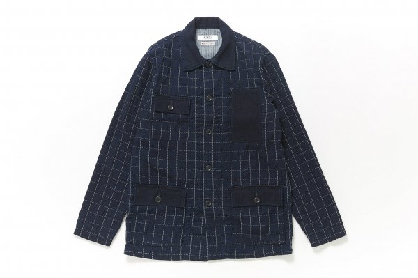 INDIGO SHIRT JACKET RINSE CHECK
