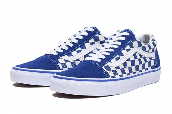 OLD SKOOL (PRIMARY CHECK)TRUE BLUE/