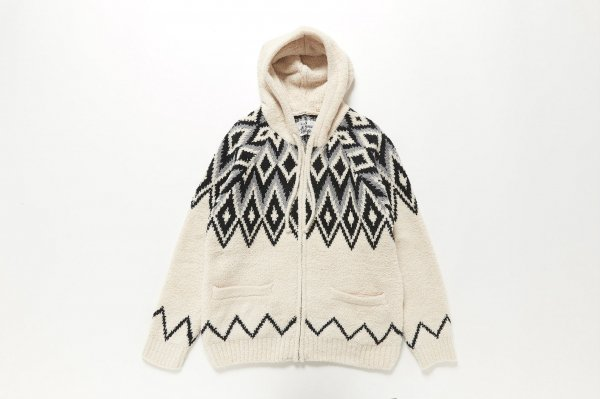 Chenille Patterned Zip Up Hoodie<img class='new_mark_img2' src='//img.shop-pro.jp/img/new/icons38.gif' style='border:none;display:inline;margin:0px;padding:0px;width:auto;' />