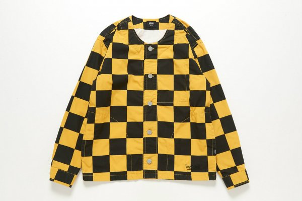 Checker No Collar Jacket(Safari4月号掲載商品) CHECKERBOARDATTACK