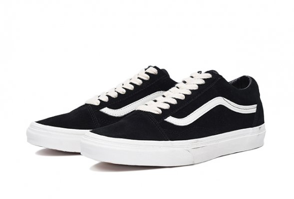 OLD SKOOL(HERRINGBONE LACE) BLACK/MA