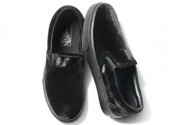 CLASSIC SLIP-ON(VELVET) BLACK/BLACK