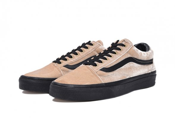 OLD SKOOL(VELVET) TAN/BLACK