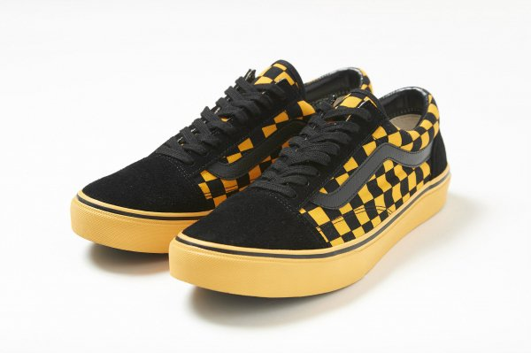 OLD SKOOL BLACK/ORANGE CHK (Safari5月号掲載商品) CHECKERBOARDATTACK