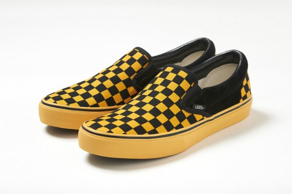SLIP-ON BLACK/ORANGE CHK CHECKERBOARDATTACK