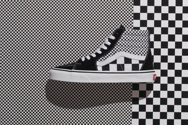 SK8-Hi (Mix Checker) black/true whit