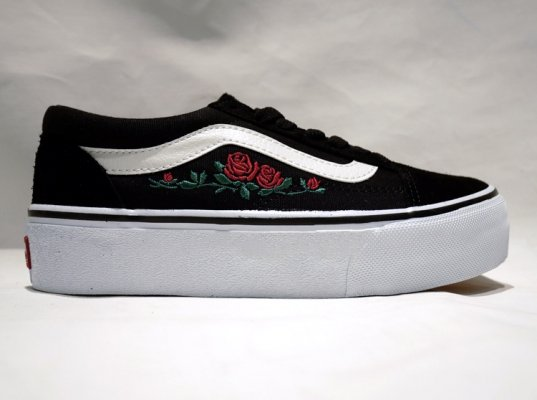 OLD SKOOL PLAT BLK/ROSE