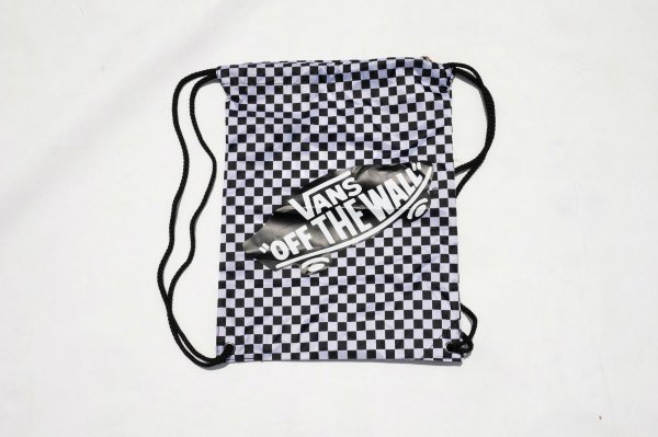 BENCHED BAG BLACK-WHITE CHECKERBOARD