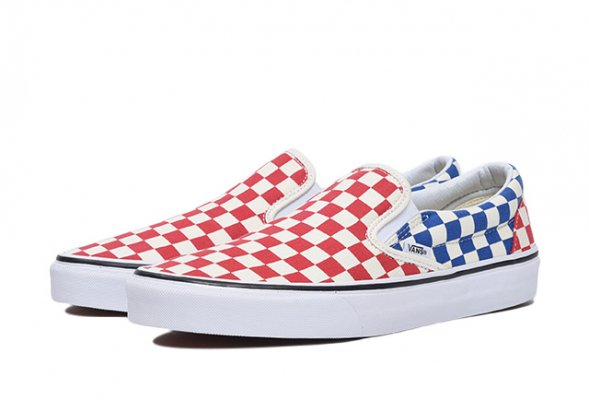 Classic Slip-On (Checkerboard) red/