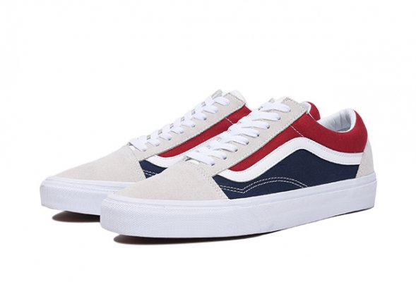 Old Skool (Retro Block) white/red/d